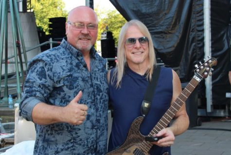 Armin Sabol with Steve Morse from Deep Purple after Interview